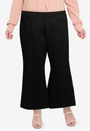 Gene Martino black PLUS SIZE Muslimah Bootcut Pants EDAAFAAF9CC525GS_1