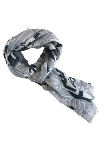 WEAVISM green King of Mountains Camouflage Collagen Scarf 959C2AC1AF2BABGS_1