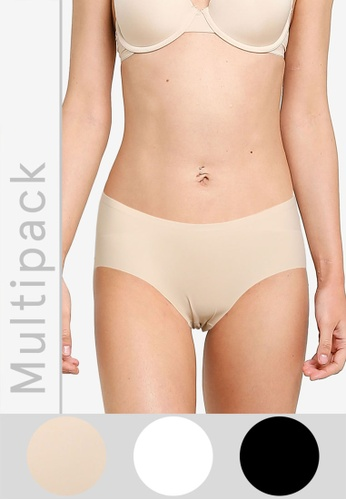 Cotton On Body black Party Pants Boyleg Brief 3 Pack D63D0US66A6F8FGS_1