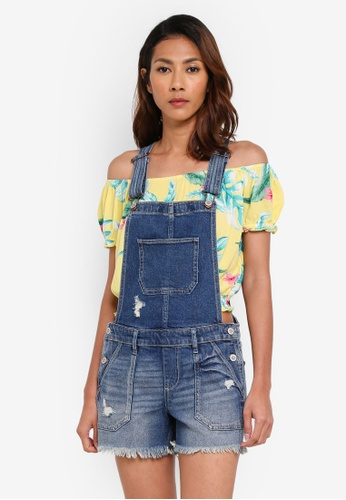 Hollister blue Medium Destroy Chop Shortall 1DF35AAACB89CCGS_1