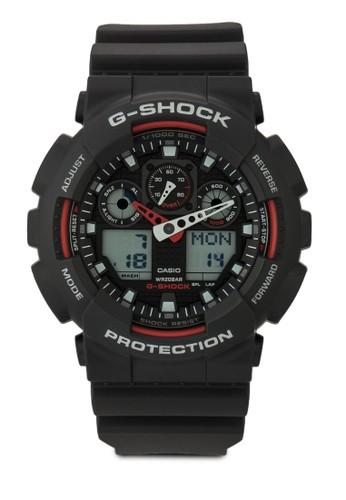 G-Shocesprit台灣outletk GA-100-1A4DR 數碼男士手錶, 錶類, 飾品配件