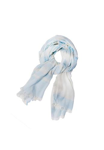 WEAVISM blue On My Way Scarf - Baby Blue 066A4AC3E02066GS_1