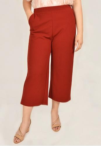 Cheetah orange Arissa Plus Size Ankle Length Culotte Pants - ARS-11172 - O03 F74A1AAD001625GS_1