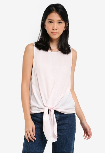 ESPRIT pink Woven Sleeveless Blouse DE376AACC8F499GS_1