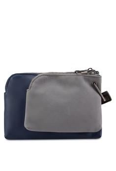 【ZALORA】 雙袋設計手腕包