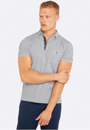 Oxford grey Percy Printed Polo OX512AA0HB2KSG_1