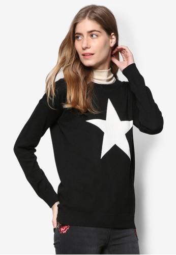 zalora taiwan 時尚購物網鞋子星星圖案長袖衫, 服飾, 服飾