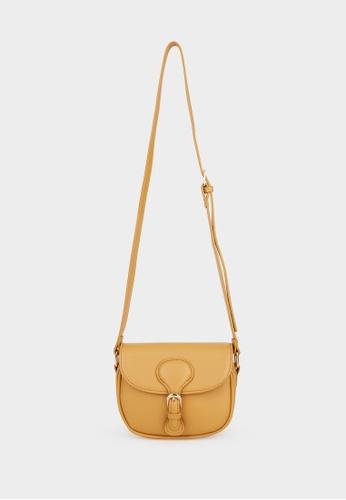 Pomelo brown Buckled Round Cross Body Bag - Tan 5C1BDAC3B422B4GS_1