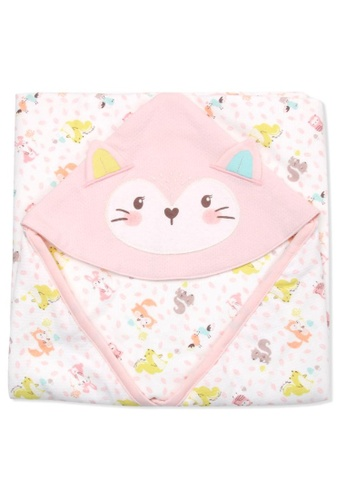 Organic mom pink Forest Party Swaddling Blanket (FALL/WINTER) 675BFKC986F8D2GS_1