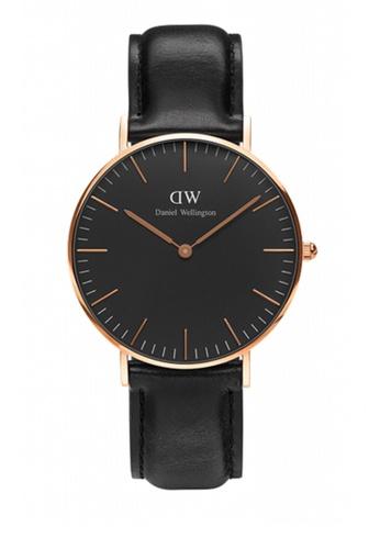 Daniel Wellington black and gold Classic Black Sheffield Watch 36mm DA376AC76NBRMY_1