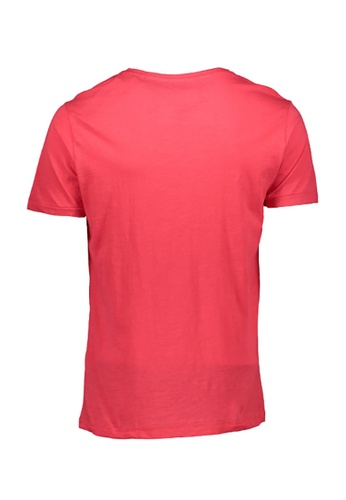 BENCH red Colored Round Neck Tee 21823AACE9D5D8GS_1