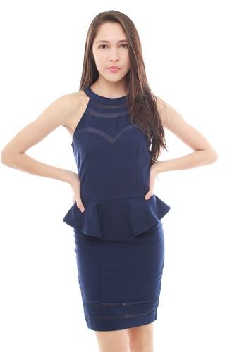 Leline Style blue Haley Peplum Dress LE802AA38QSNSG_1