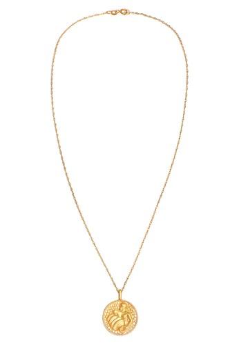 Elli Germany gold Perhiasan Wanita Perak Asli - Silver Kalung Zodiac Aquarius Coin Lapis Emas 79B1AAC976E099GS_1