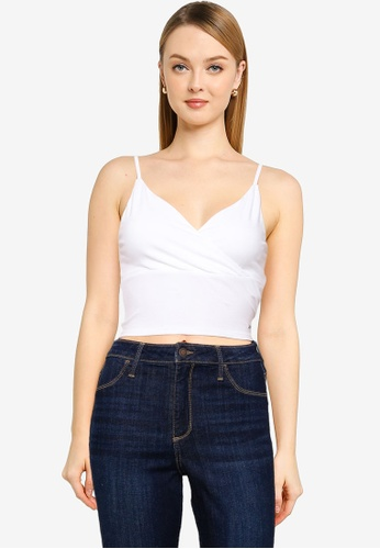 Hollister white Wrap Front Cami Top 50F65AA76B7CAAGS_1