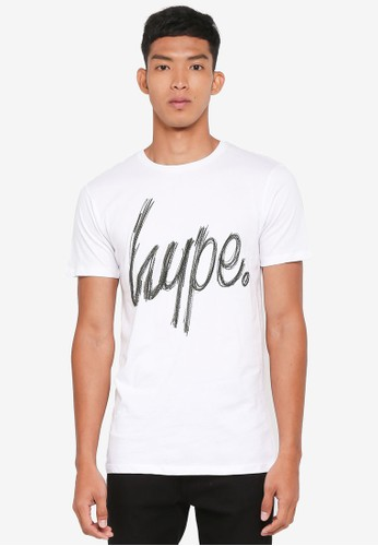 Just Hype white Scratch T-Shirt D7AF5AADA36666GS_1