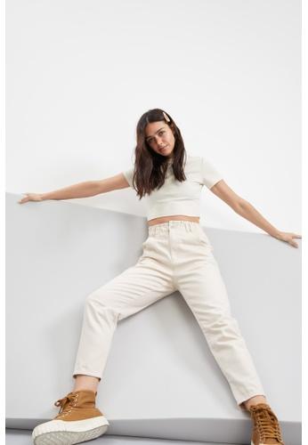 DeFacto beige Woman Woven Trouser 1C58AAA080D339GS_1