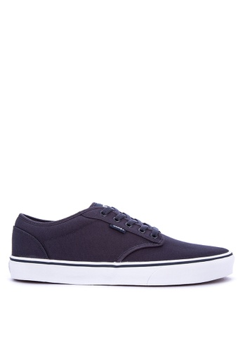 VANS navy Canvas Atwood Sneakers 360A6SH559503AGS_1