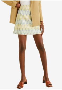 a2288de6d Mango beige Tweed Mini Skirt 853E4AAB48A236GS_1
