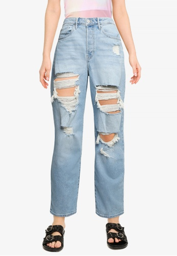 Hollister blue High Rise Vintage Straight Jeans C505AAA29CC093GS_1