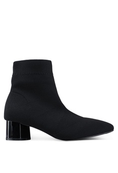 93ea54abb081 Twenty Eight Shoes black Pointy Socking Ankle Boots 21625SHFC51504GS 1