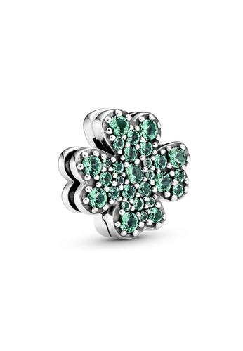 Pandora green Pavé Four-Leaf Clover Clip Charm 29373ACB0440A5GS_1