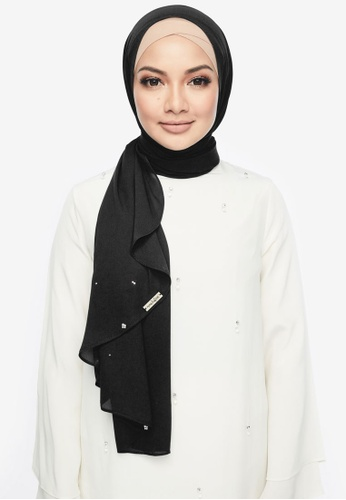 Naelofar for ZALORA black Louisa Shawl C2D02AA314073DGS_1