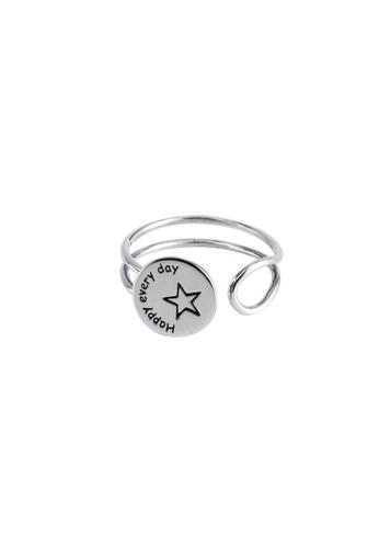 OrBeing white Premium S925 Sliver Geometric Ring 8447CAC3839D2DGS_1