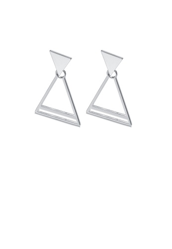 Glamorousky silver Simple Triangle Earrings A5CCCAC9F9777AGS_1