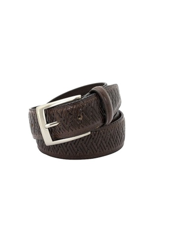 Buckle brown Cabana Leather Belt 5BD05AC1B63378GS_1