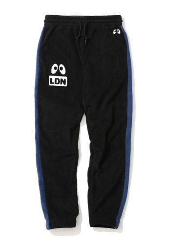 Mini cream black Side stripe fleece sweatpants 503C1AAB20BF0DGS_1