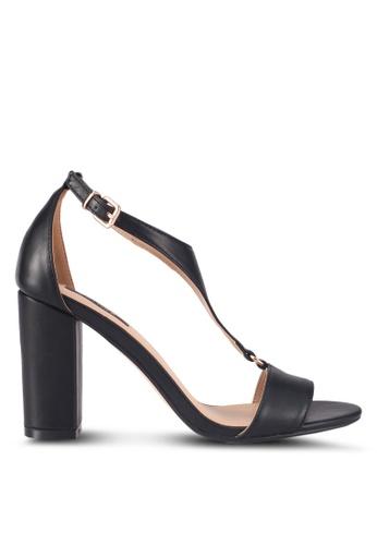 ZALORA black Minimalist T Strap Heels 85598SHB718147GS_1