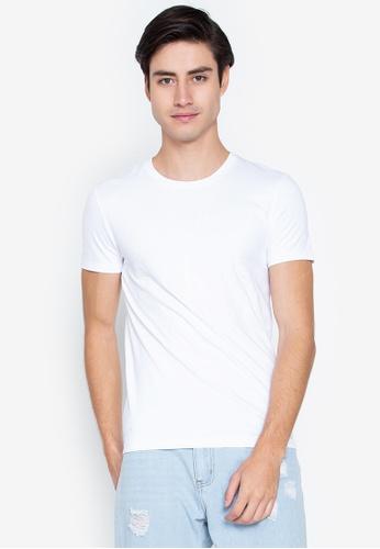 Calvin Klein white CK Tshirt 2C323AA38FAEF2GS_1
