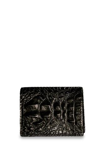 CSHEON black Authentic Crocskin Black Leather Staircase Interior Wallet CSHEON B0ABCAC0C23269GS_1