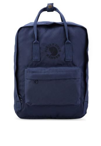 Fjallraven Kanken blue and navy Midnight Blue Re-Kanken Backpack  FJ382AC51RJGMY 1 9ed02028ce