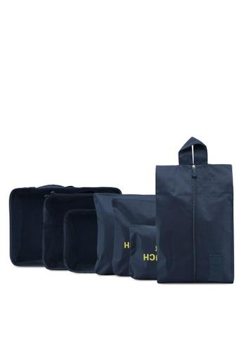 Bagstationz navy Travel Bag & Pouch Set 9571AACC0DE1ADGS_1