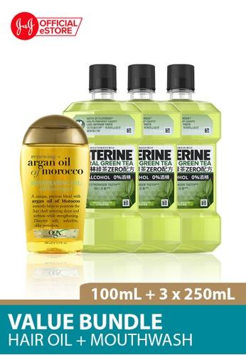 OGX OGX Renewing Argan Oil Morocco Penetrating Oil 100ml + Listerine Mouthwash Green Tea 250ml x 3 6F6D0BE68B5BC8GS_1
