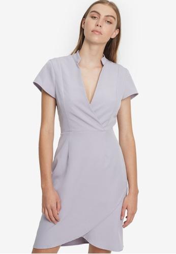 REUX grey Amira Mini Dress EF8BCAA7E05617GS_1