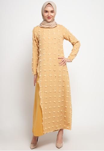 AZZAR yellow Jane Maxi Dress in Yellow AA864AAEC0517BGS_1