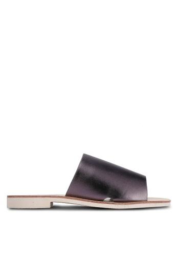 Something Borrowed grey Slip On Sandals CF77BSH6315EEAGS_1