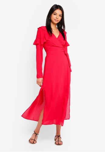 The Fifth Label red Window Wrap Dress 676ADAA1B39B20GS_1