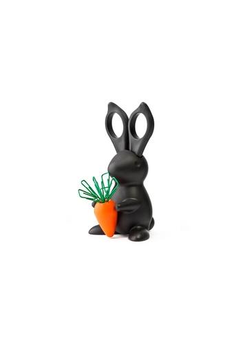 Qualy Qualy Desk Bunny Scissors & Paper Clip Holder (Black) 26E65HLFD241B0GS_1