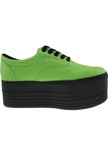 Maxstar green Maxstar Women's C60 5 Holes Platform PU Low Top Sneakers US Women Size MA164SH99PQMSG_1