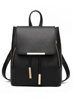 Lucky JX black Ms Han Edition Tide Fashion Backpack E82DFAC96873CBGS 1 8994f543585cd