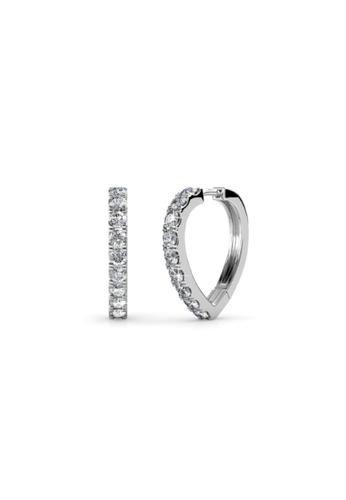 Her Jewellery silver Swarovski® Crystals - Ariane Earrings (18K White Gold Plated) Her Jewellery HE581AC93JVEMY_1