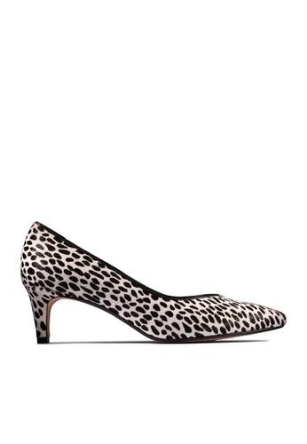 Clarks CLARKS Laina55 Court2 Dalmation Animal Print Combi Womens Dress Shoes D44EDSH530357FGS_1