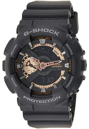 CASIO black Casio G-Shock Gold and Black Resin Watch 3C72BAC60D672AGS_1