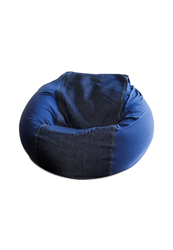 HOUZE HOUZE - Laxla Bean Bag - Denim Blue 206D0HLCF755D0GS_1