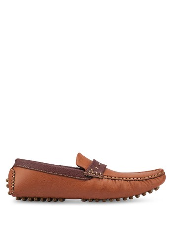 UniqTee brown Casual Slip On With Penny Strap F045DSH306E410GS_1