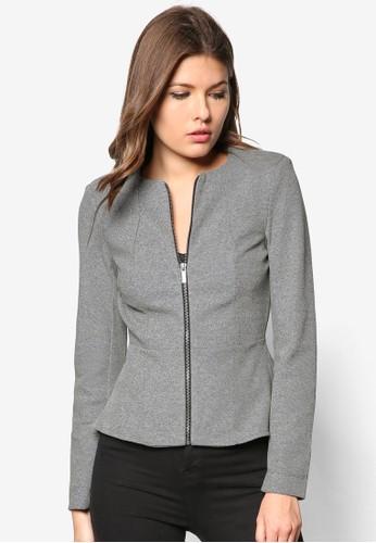 Grey Pzalora 折扣碼eplum Jacket, 服飾, 夾克 & 大衣