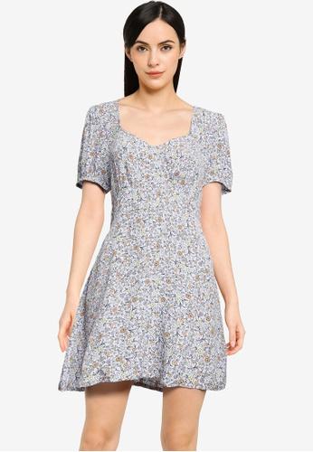 Cotton On multi Woven Essential Tie Back Mini Tea Dress ECC14AAD1AC4EEGS_1